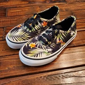 Vans unisex tropical floral low tops